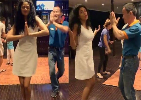 kavita kaushik dance on made in india song with foreigner