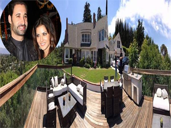 sunny leone massive bungalow in los angeles us