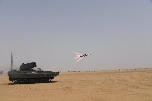 successful test done by anti tank missile nag