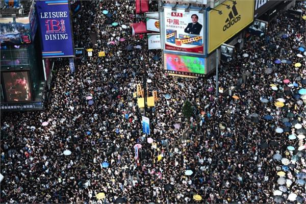 the protests against hong kong chinese offices