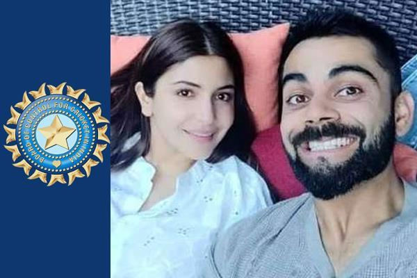 bcci angry over kohli s decision to keep wife with wife