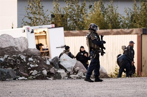 gunfire in finland  two police officers survived