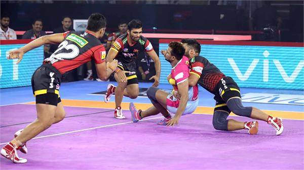 pro kabaddi league  bangalore defeated jaipur 41 30