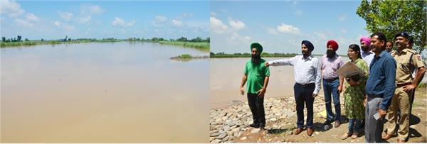 hundreds of acres of crop due to rising water