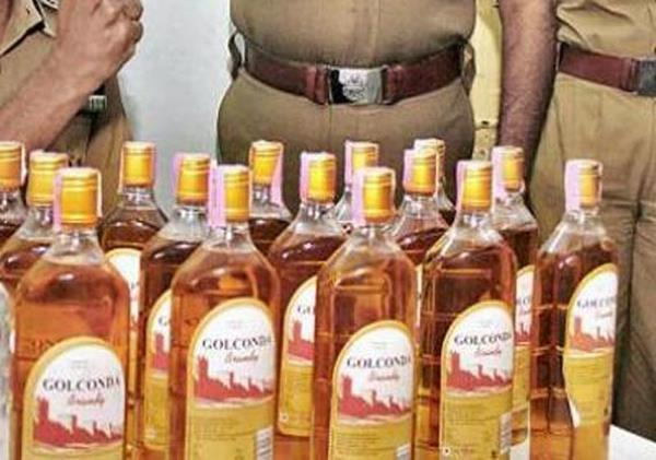 72 boxes of liquor theft from the contract  1 arrested