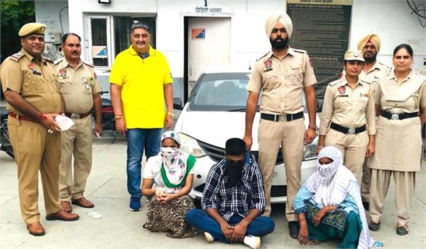 3 arrested with 400 grams of heroin and 6 lakh cash