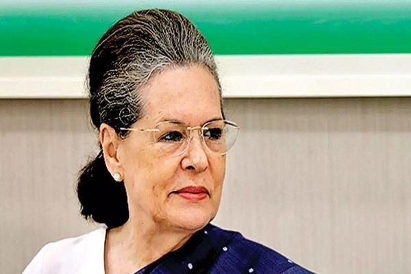 sonia  s coronation in the post of congress president