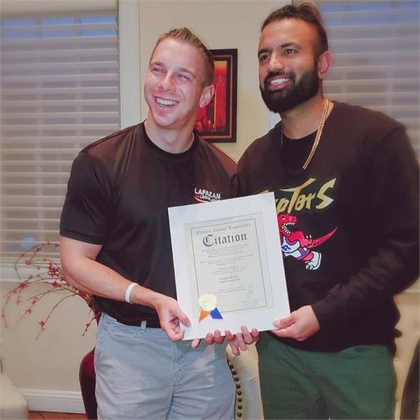 gagan kokri receive citation from legislator joshlafazan in new york
