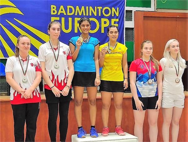 aditi and tanisha win gold in junior international badminton