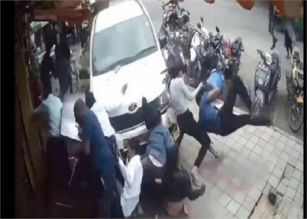 road car video footpath karnataka