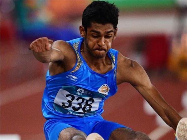 sreeshankars 8m leap enlivens in indian grand prix