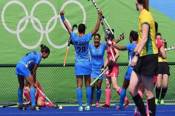 india  women hockey team  win