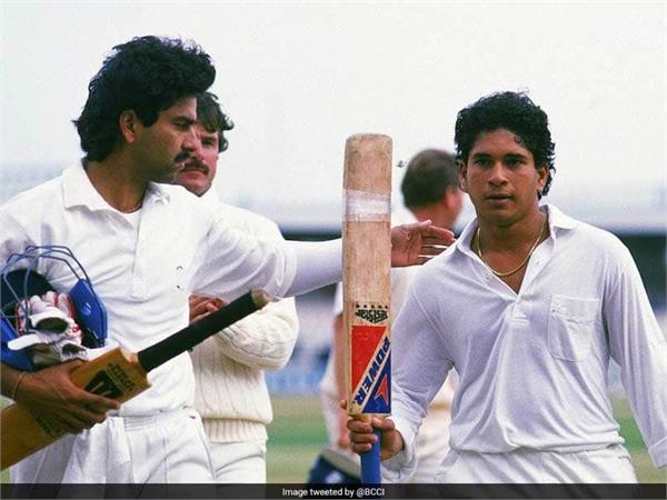 sachin scored his first test century on this day in 1990