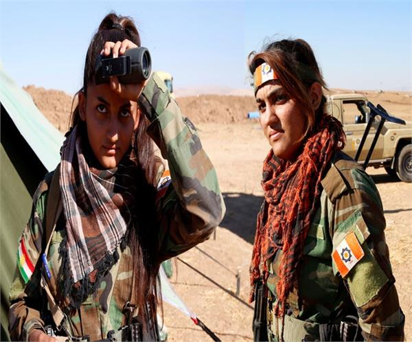 these beautiful kurdish girl fighters who fight with isis terrorists in syria