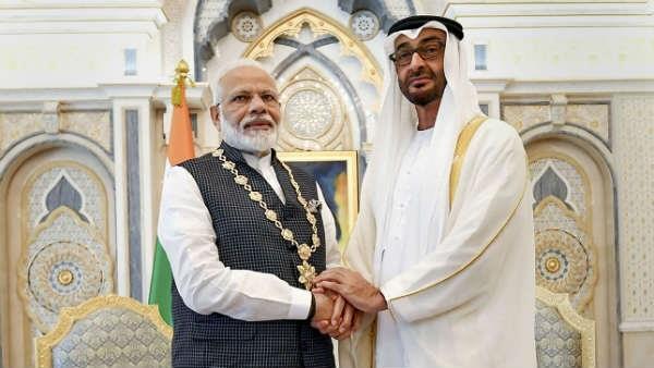 abu dhabi crown prince shares beautiful video pm modi visit