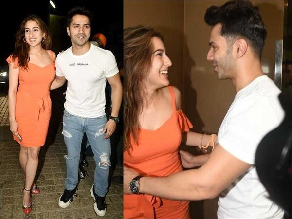 sara ali khan and varun dhawan