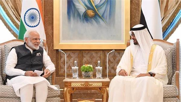 pm modi abu dhabi crown prince discuss  strong  india uae ties