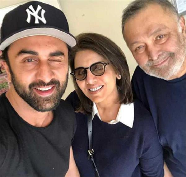 neetu kapoor shares   like father like sonvideo comparing rishi  ranbir kapoor