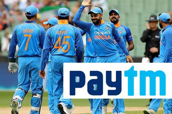sponsorship rights paytm team india next five years