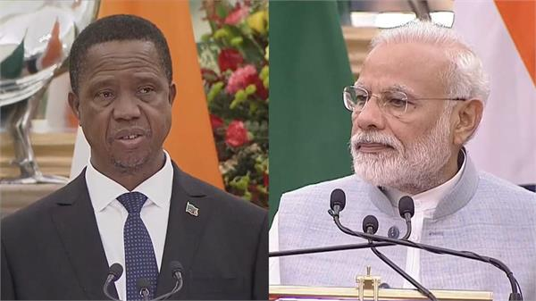 pm modi talks with zambia president