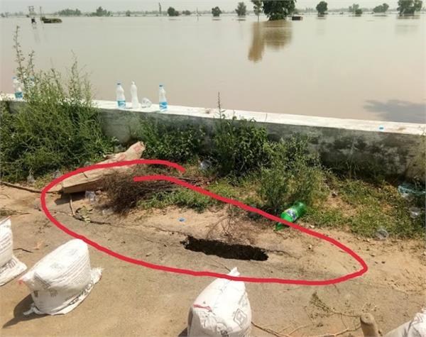flood  lohia khas  national highway