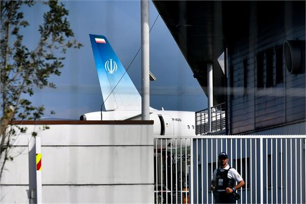 iranian official plane landed in france during the g 7 summit