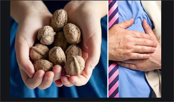 walnuts reduces risk of heart attack