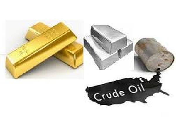 crude oil sharpened  gold and silver