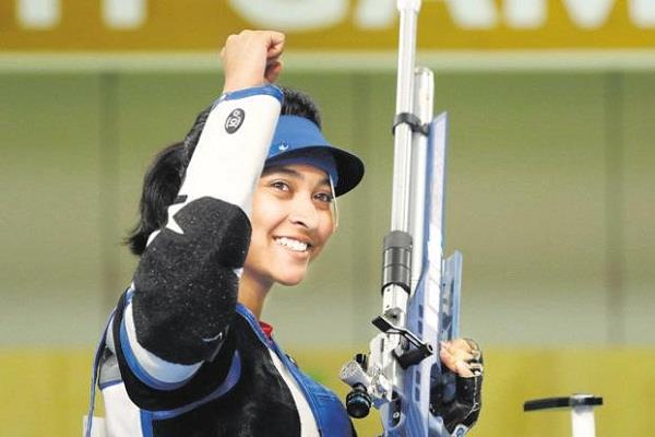 mehuli ghosh  air rifle trial  clean sweep