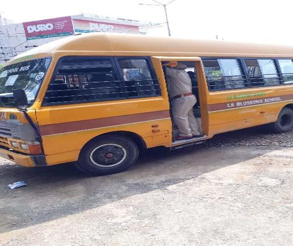 cctv camera  school buses  security checking