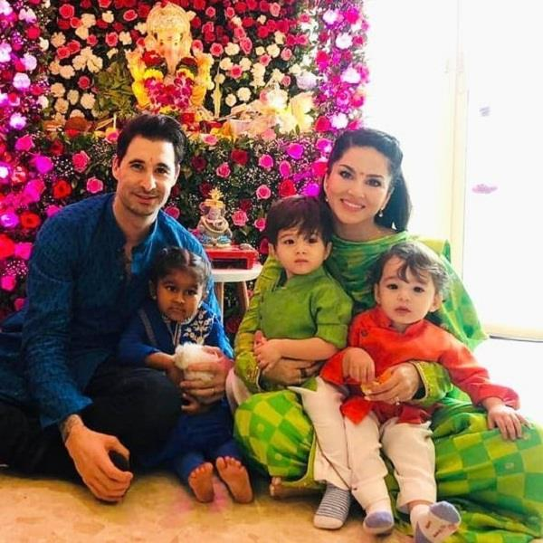 sunny leone s ganesh chaturthi celebration with kids