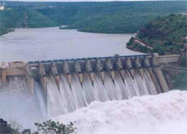 pong dam water inflows
