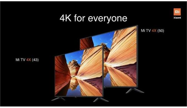 xiaomi mi tv 4x series with 4k hdr10 panel launched