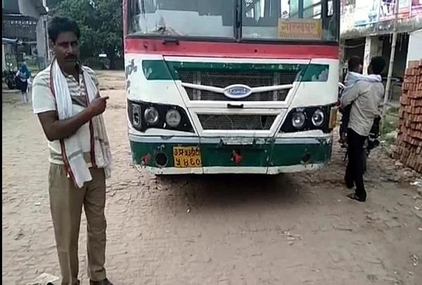 up traffic police filed challan of government bus driver
