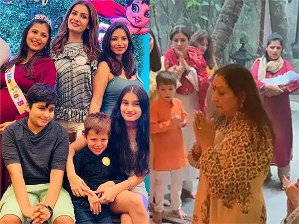 raveena tandon becomes nani brings home her grand kid