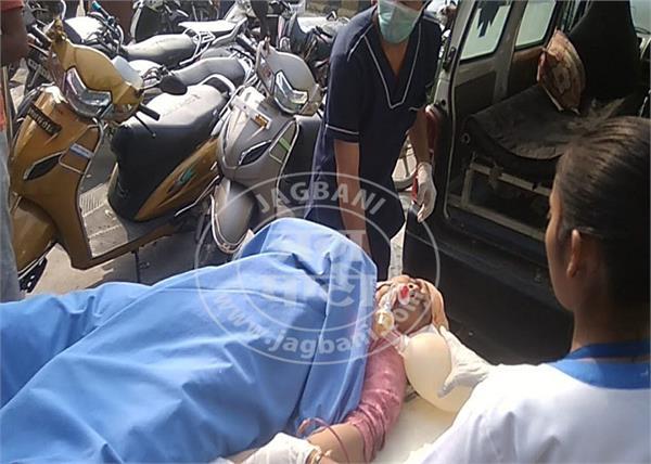 road accident shri guru ravidass chowk