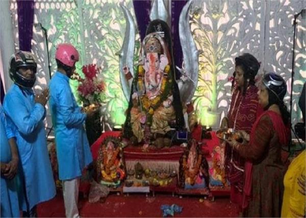 traffic rules challan helmet ganesh idols
