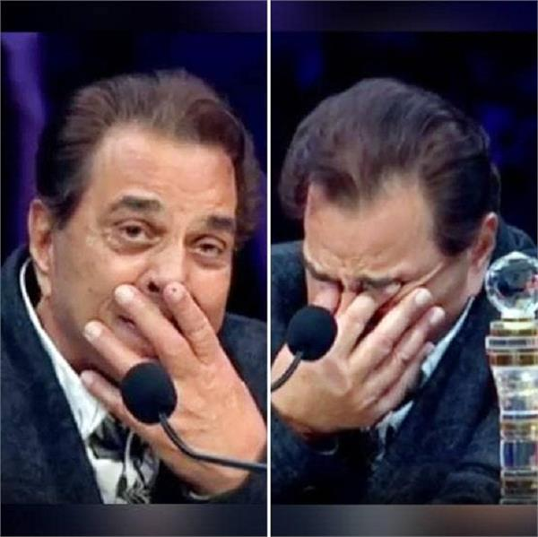 dharmendra gets emotional on watching this in super star singer