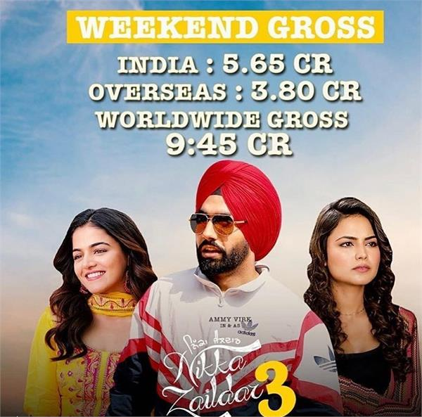 nikka zaildar 3 first weekend box office collection
