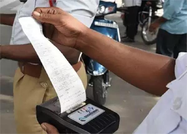 driver given rs 1 16 lakh challan flees
