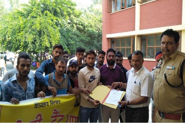 unemployed ett tet pass union protests employment fair