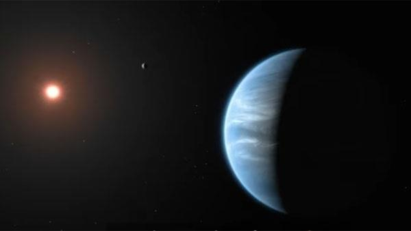 water found on a potentially life friendly alien planet