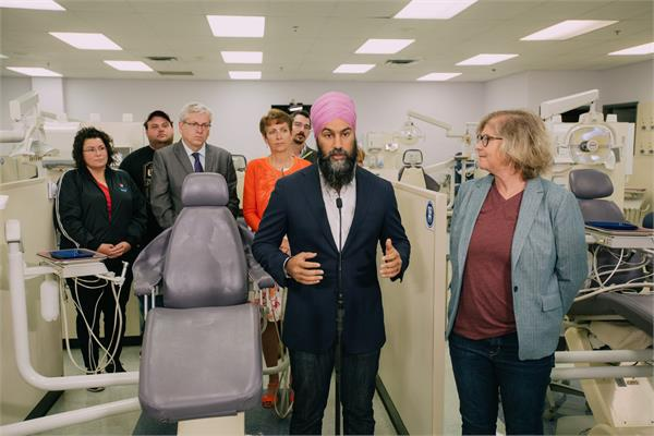 canadians get   free treatment   if our party wins  jagmeet singh
