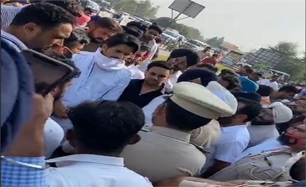 kisan protest   jass bajwa and harjot
