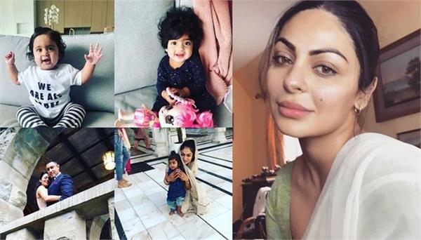 neeru bajwa shared this special picture of her three daughters