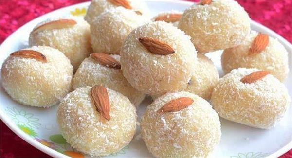 winter taste preserved coconut laddu recipe