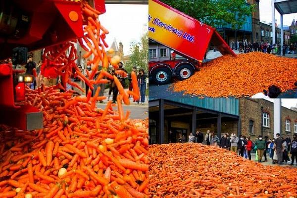 london  29 tons of carrots