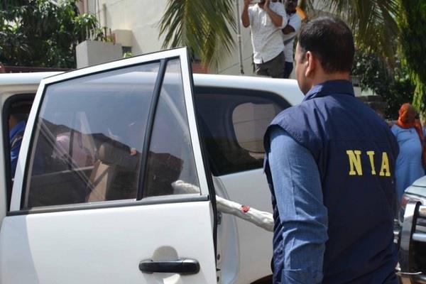 nia kashmir delhi terrorist activities locations raids