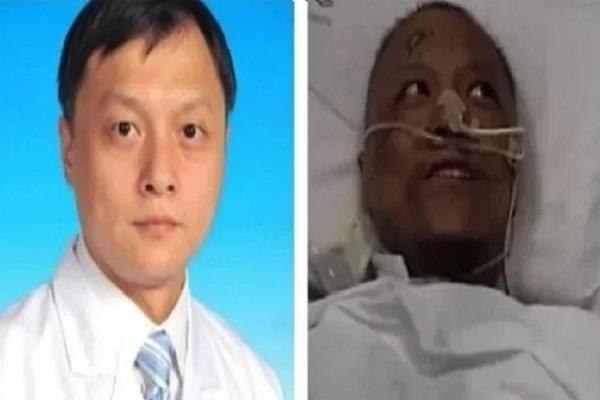 the chinese doctor  s skin  which was blackened by corona  began to heal again