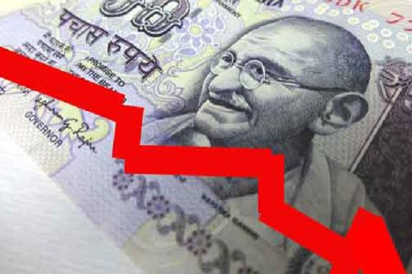 the rupee fell below 74 against the dollar
